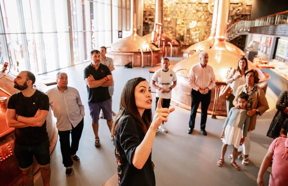museo de cerveza estrella galicia - visita guiada